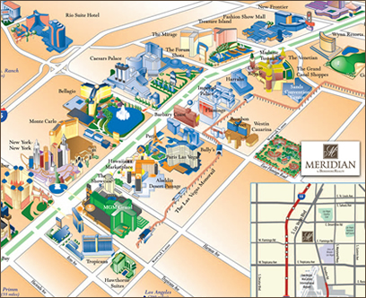 LAS VEGAS STRIP MAP | ColoradoMap.org